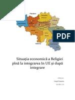 Situaţia economică a Beligiei pînă la integrarea în UE şi după integrare
