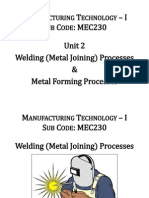 1 Unit 2- Metal Joining Process