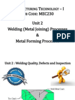 5 Unit 2- Welding Quality and Defects
