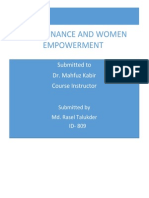 Microfinance and Women Empowerment