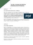 Estatuto Del Colegio de Peritos Profesionales de Pichincha