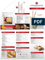 China Blossom Takeout & Delivery Menu 2013-08