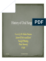 History of Oral Surgery