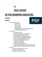 Linux Usage in Banking Industries