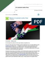 Gmail - [Nuovo articolo] Obama e le sanzioni contro l'Iran