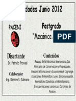 Afiche Curso Mecanica Analítica 2012