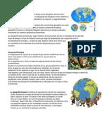 GEografia Fisica Humana y Biologica