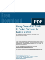 Using Closed-End Funds to Derive Discounts for Lack of Control