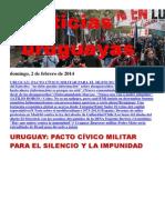 Noticias Uruguayas Domingo 2 de Febrero Del 2014