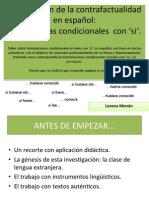La expresión de la contrafactualidad en español - Lorena M Menon
