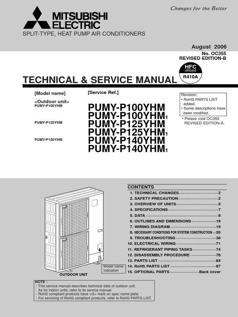 Pumy P100 140yhm Technical Service Manual Oc355revb Air Wiring Diagram Refrigeration Piping Conditioning Pipe Fluid Conveyance