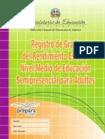 Registro de Grado Nivel Medio Semipresencial de Adultos