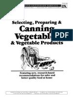 Canning Vegetables
