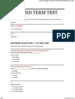 Ilud Mid Term Test