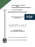 Método para el Cálculo del Área de Drene ( Tésis)