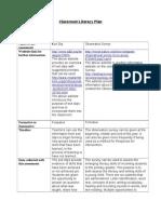 edu 741- classroom literacy plan