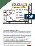 Seasons for Social Studies