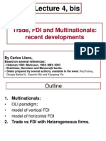 FDI Multinationals Extensions
