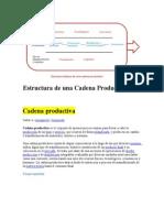 Estructura de Una Cadena Productiva