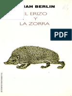 El Erizo y La Zorra - Isaiah Berlin