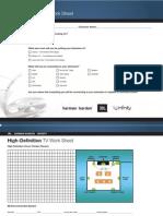 High Definition TV Worksheet v2