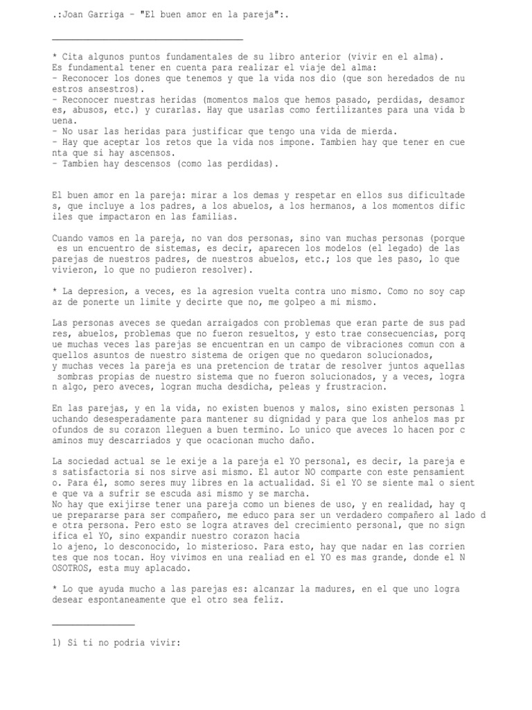 Joan Garriga El Buen Amor En La Pareja