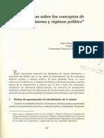 Notas sobre los conceptos de sistema y régimen político - Alejo Vargas