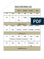 2014 - Rm 23's Weekly Time Table