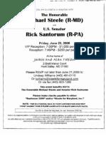 Fabian's Steele Fundraiser Invite