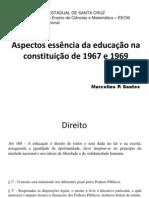 Aspectos essência da educação na constituição de 1967