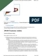 Espectroautista.info Criterios Diagn%C3%B3sticos DSM v T