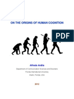Ardila a 2012 on the Origins of Human Cognition 1