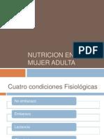 Nutricion en La Mujer Adulta