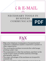 FAX & EMAIL