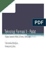 Preformulation of Tablet Dosage Form