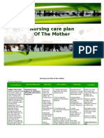 Nursing Care Plan of the Mother