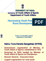 Nehru Yuva Kendra Sangathan (NYKS) an Introduction