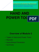 Module 5 Hand and Power Tools Seminar