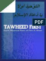 Tawheed First Sh Al Albanee