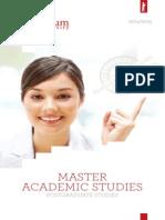 Univerzitet Singidunum - Katalog 2014-2015 - MASTER