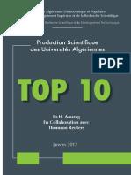 TOP 10 Univ Algériennes