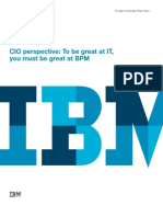 1 18422 CIO Perspective - To Be Great at IT You Must Be Great at BPM
