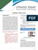 Fitness Ideas Newsletter - 1 February 2014