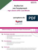 Analiza Cen Imprez Turystycznych (03.01.14)