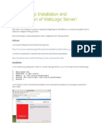 Step by Step Installation and Configuration of WebLogic
