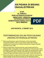 Ketentuan Pidana Di Bidang Ketenagalistrikan - Ppns.pptx