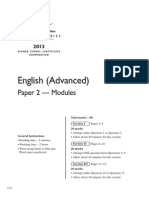 2013 Hsc English Adv p2
