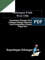 Hubungan Etnik WAJ 3106
