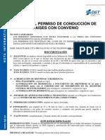 Canje Permiso Conduccion Paises Con Convenio 2012