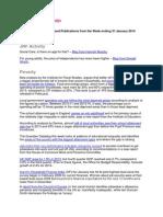 JRF Information Bulletin - W/E 31 January 2014